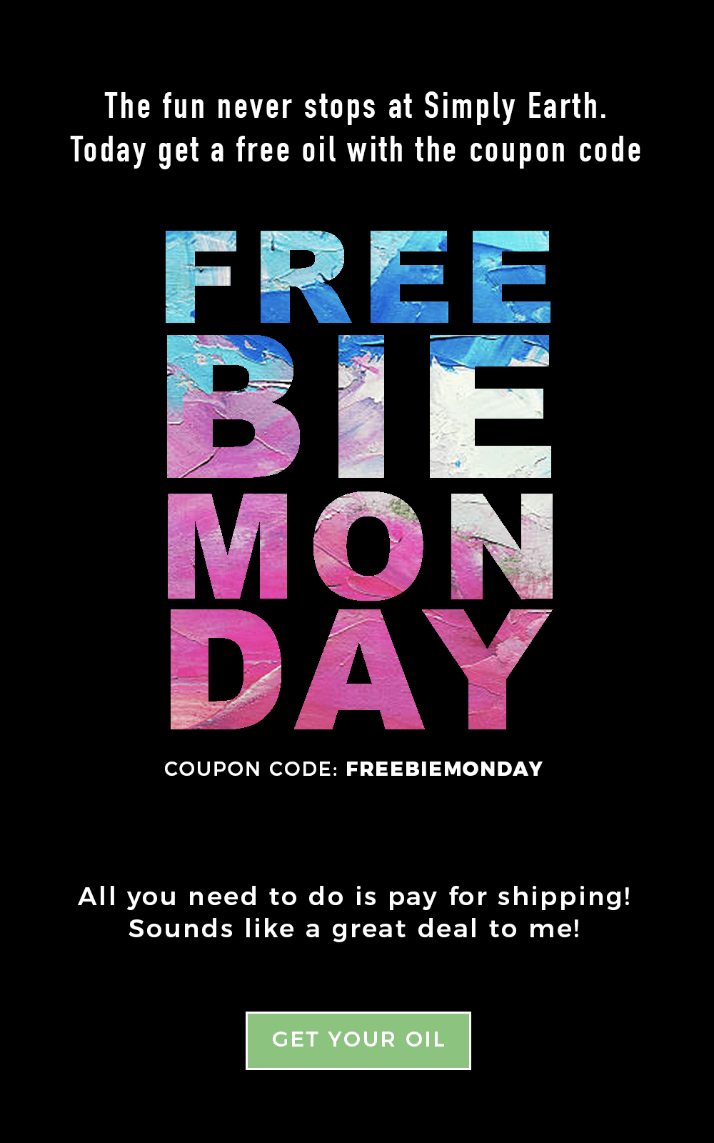 Simply Earth TODAY ONLY Cyber Monday Deal: FREE oil, just pay shipping!