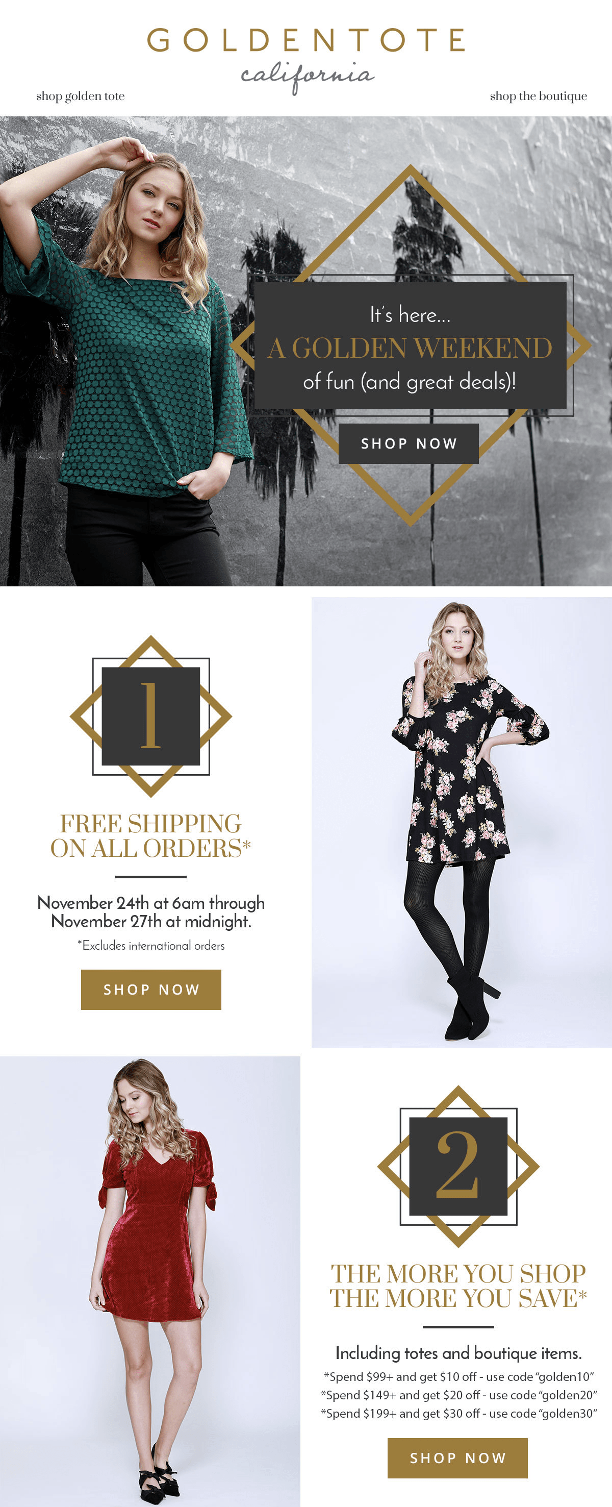 Golden Tote 2017 Cyber Monday Sale Live Now!