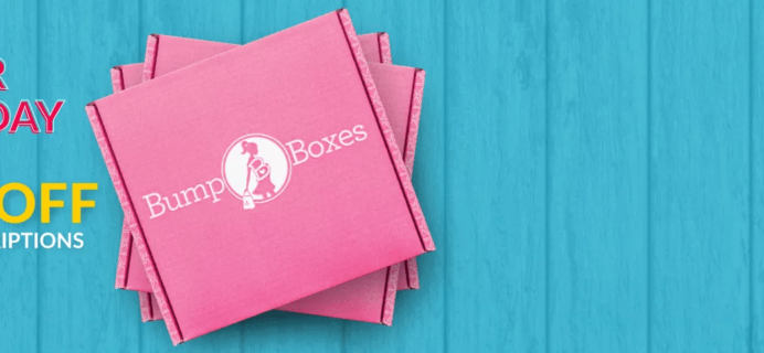 Bump Boxes Pregnancy & Maternity Subscription Box Cyber Monday Coupon: FREE Mom and Baby Box  + 20% Off Gift Subscriptions!