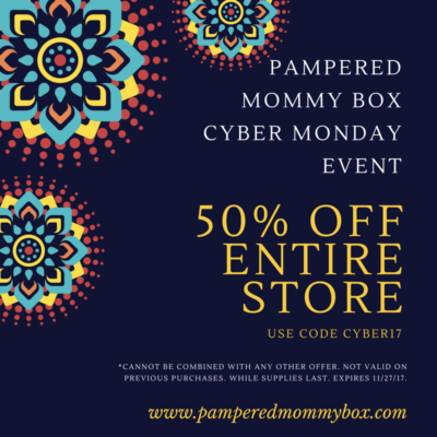 Pampered Mommy Cyber Monday Deal: 50% Off Entire Store!