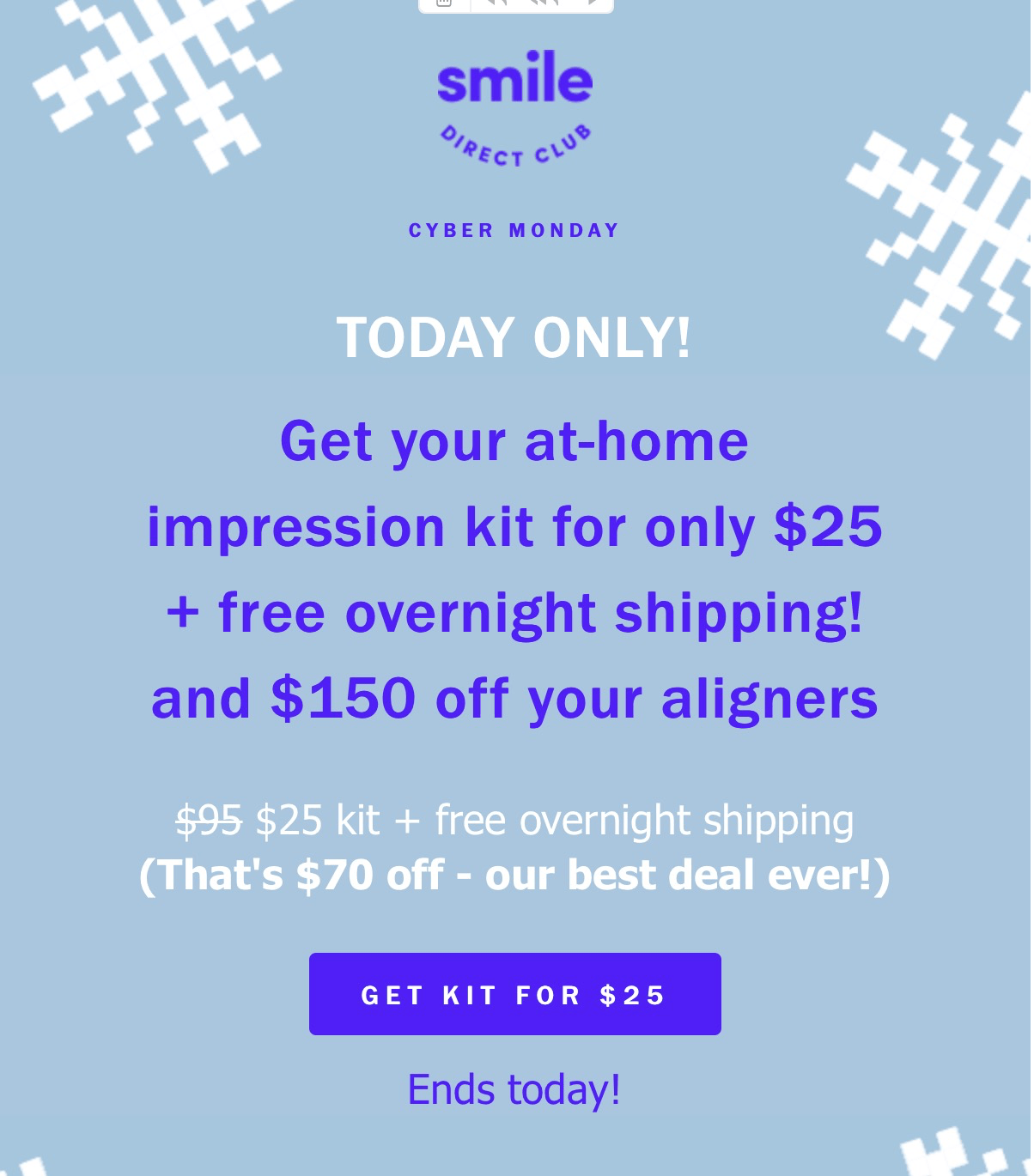 Smile Direct Club Cyber Monday Coupon: Impression Kit – $35 Shipped Overnight!