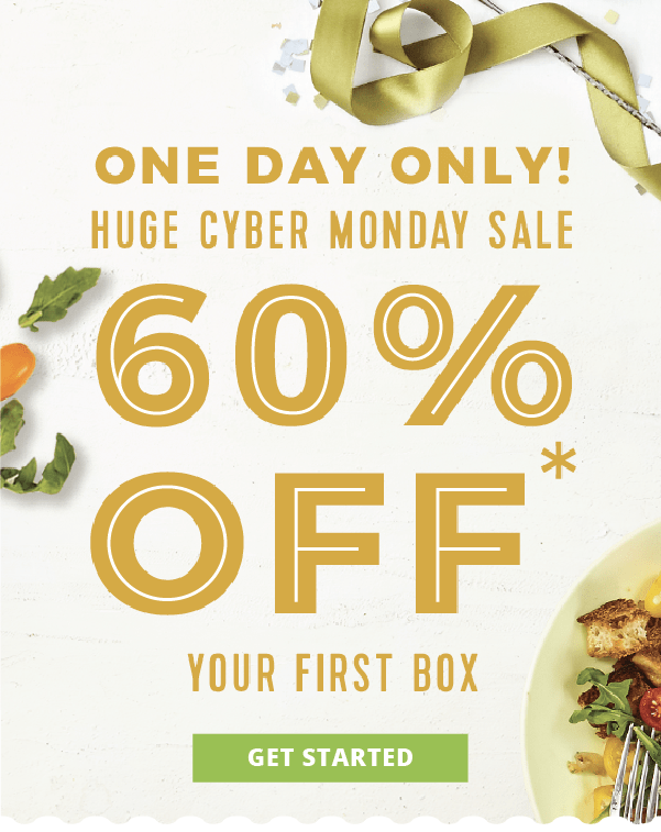 Hello Fresh Cyber Monday Coupon: 60% Off First Box!