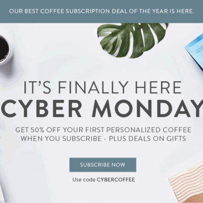 MistoBox Coffee Subscription Cyber Monday Deal 50% Off Subscription!