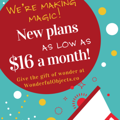 Wonderful Objects by Wonder & Co: New Lower Price Plans + Holiday Deliveries Available!