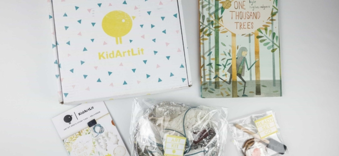 KidArtLit November 2017 Subscription Box Review + Coupon!
