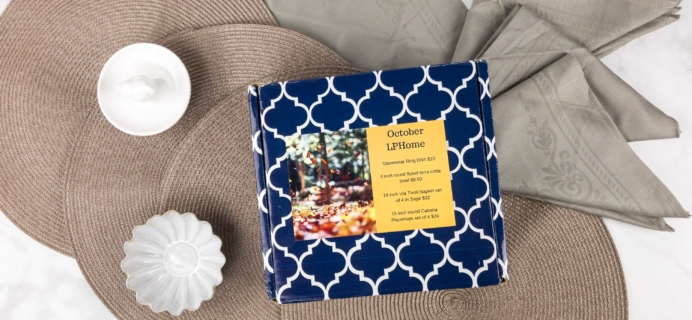 Luxe Pineapple Post Home Box October 2017 Subscription Box Review