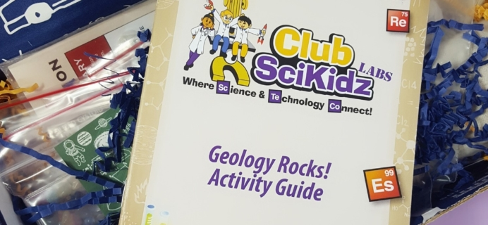 Club Scikidz Labs November 2017 Subscription Box Review + Coupon – Geology Rocks