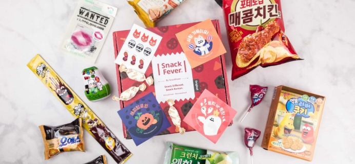 October 2017 Snack Fever Subscription Box Review + Coupon