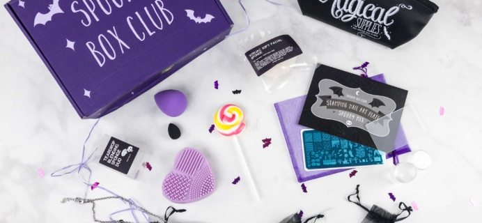 Spooky Box Club November 2017 Subscription Box Review – Glamour Ghouls