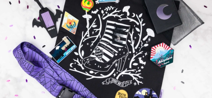 Spooky Box Club October 2017 Subscription Box Review – Gothic Globetrotter