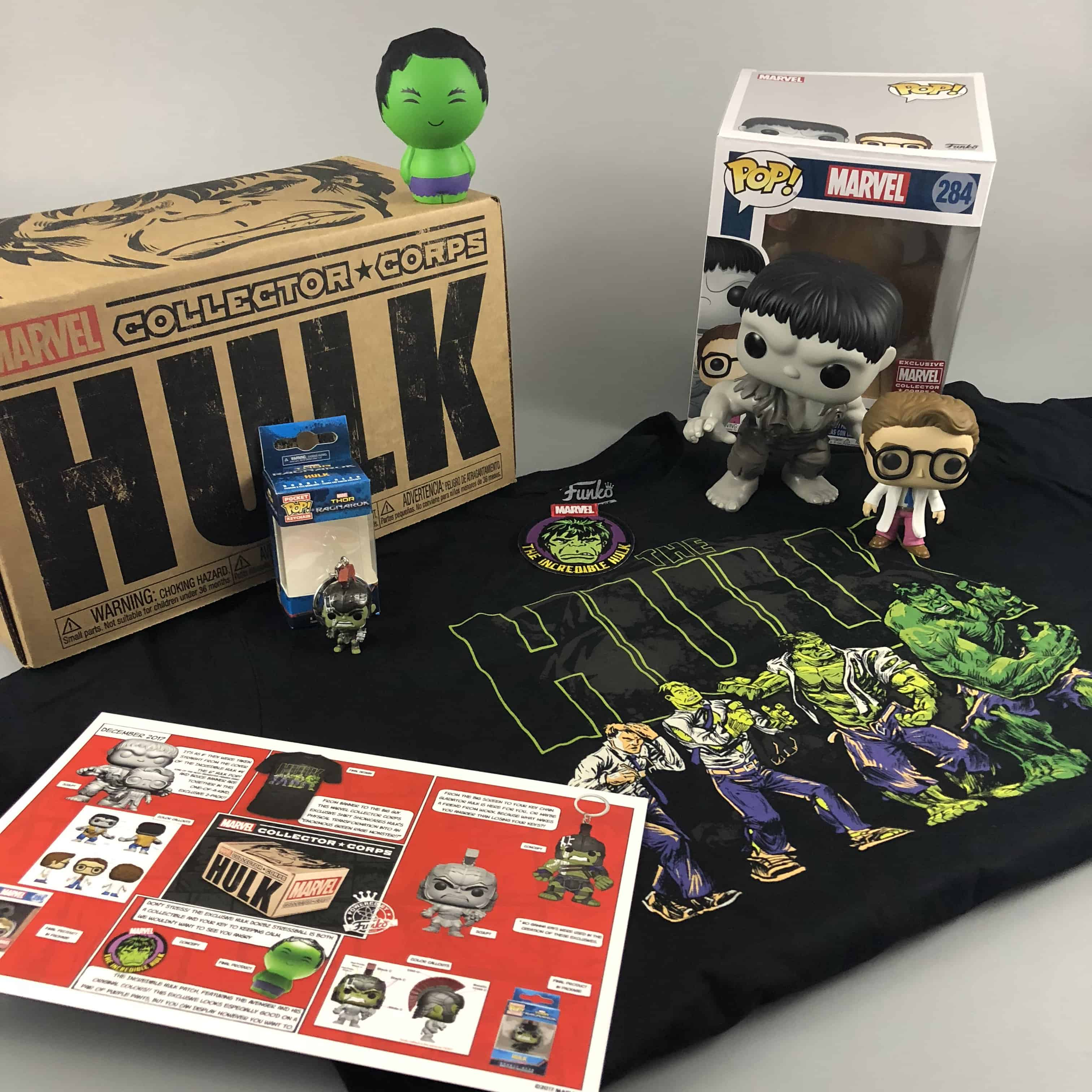 Marvel Collector Corps December 2017 Subscription Box Review – Hulk