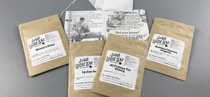 Simple Loose Leaf Tea December 2017 Subscription Box Review