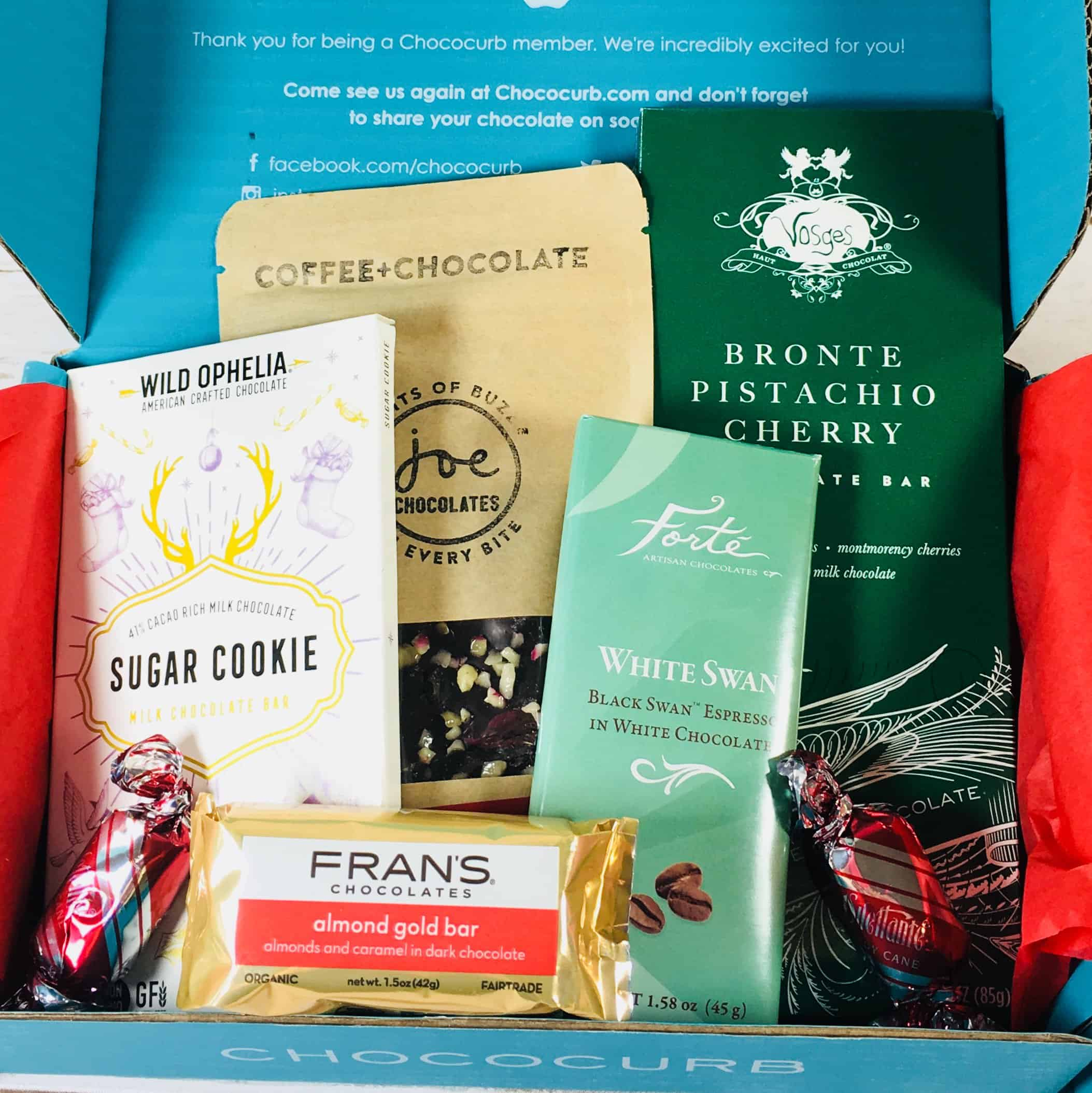 Chococurb Classic December 2017 Subscription Box Review