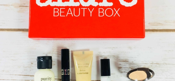 Allure Beauty Box December 2017 Subscription Box Review & Coupon
