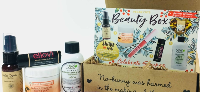 Vegan Cuts Beauty Box December 2017 Subscription Box Review