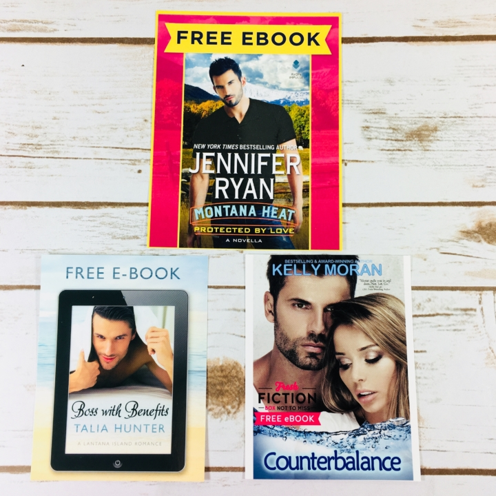 Fresh fiction box december 2017 subscription box review coupon first up are 3 downloadable ebooks fandeluxe Choice Image
