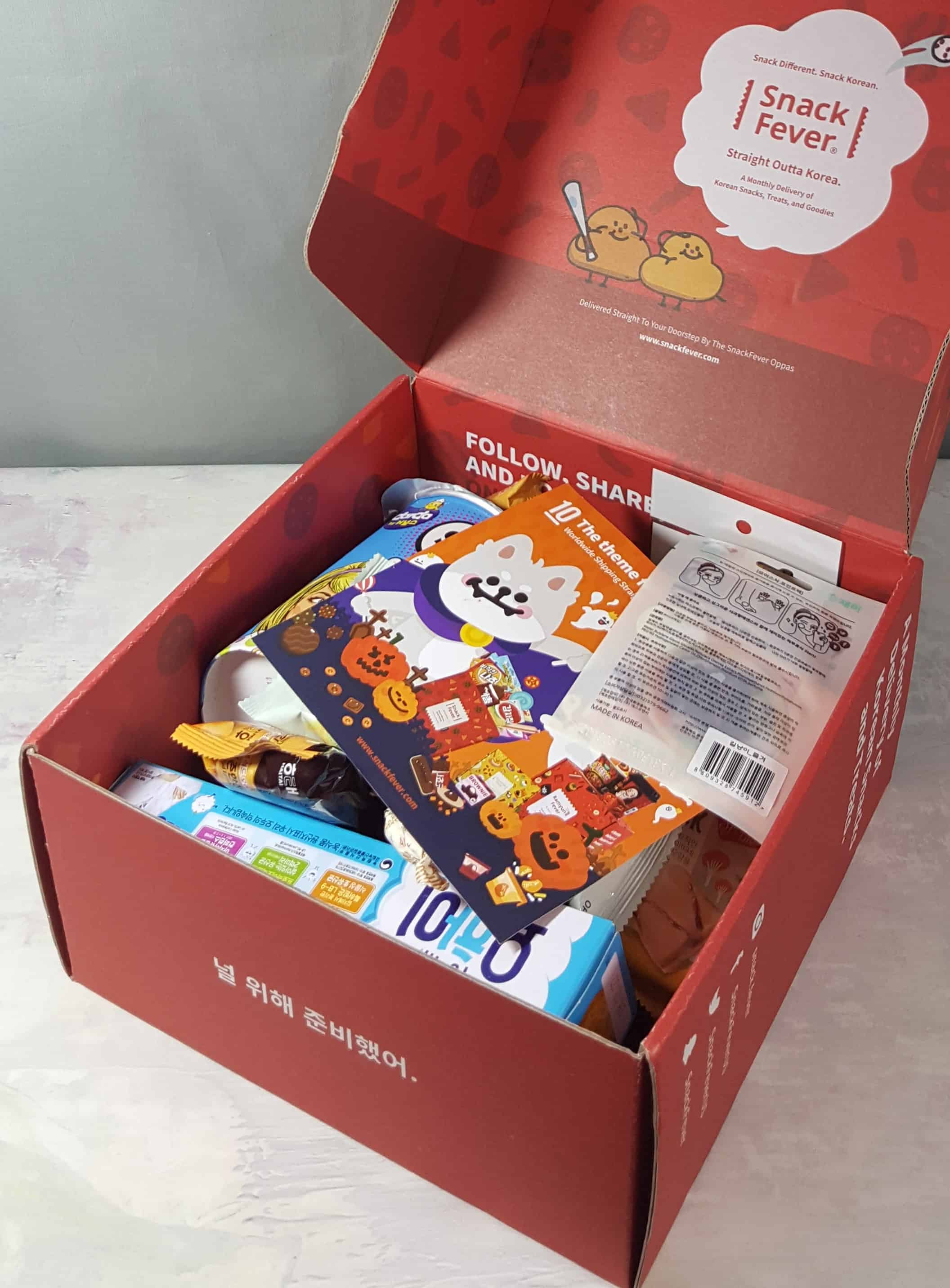 October 2017 Snack Fever Subscription Box Review + Coupon – Deluxe Box!
