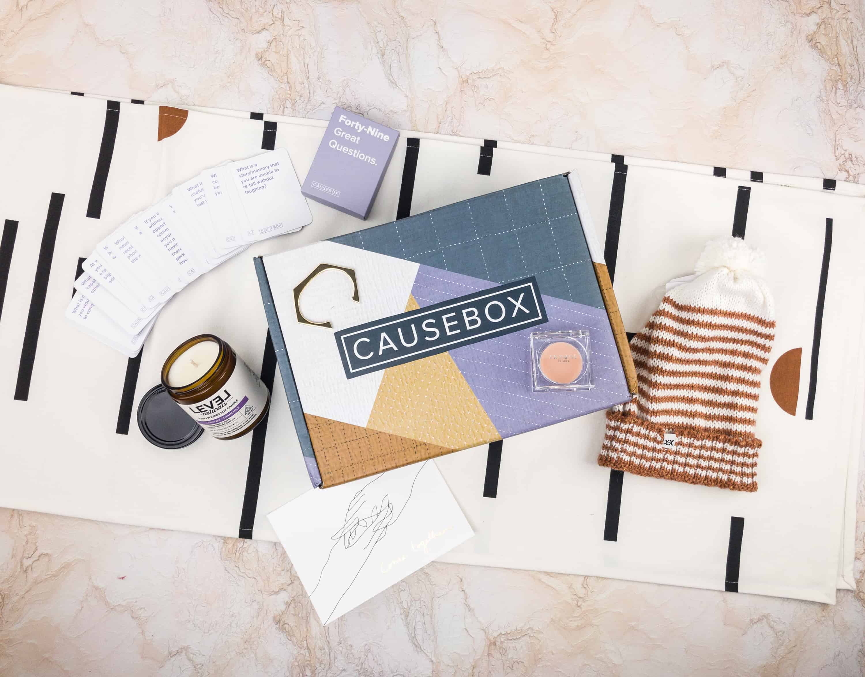 CAUSEBOX Winter 2017 Subscription Box Review + Coupon