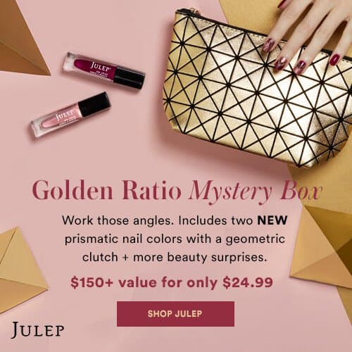 New Julep 24 Days Deal: December 2017 Golden Ratio Mystery Bag!