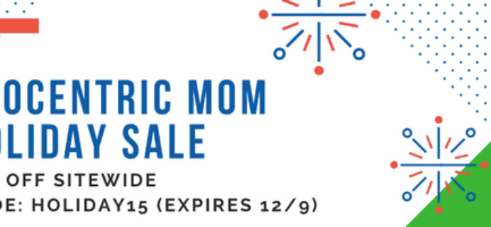 Ecocentric Mom Holiday Sale: 15% Off Sitewide!