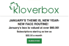 Kloverbox January 2018 Spoiler + Coupon Code