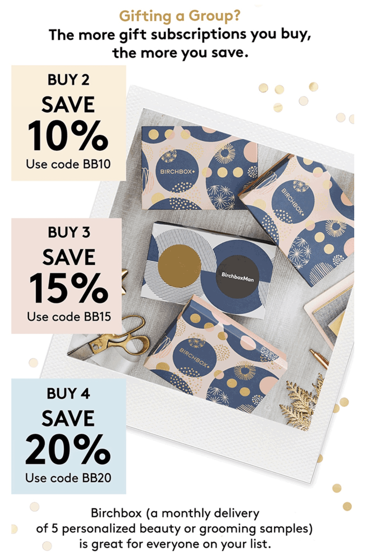 Save Up To 20% on Birchbox Gift Subscriptions!