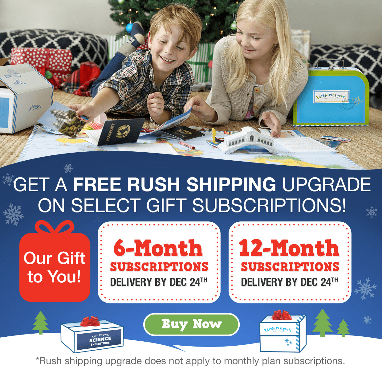 Little Passports Free Rush Shipping Upgrade for Prepaid Subscriptions!