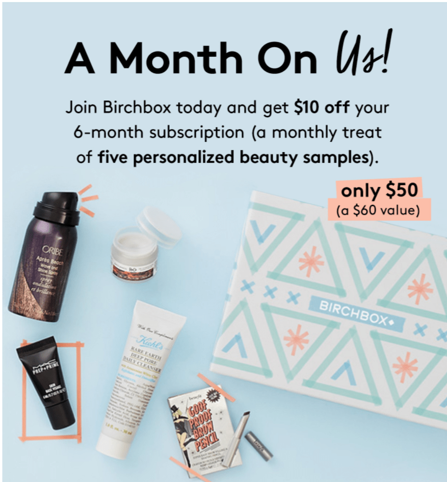 Birchbox Coupons: $10 Off 6 Months & $10 off $50 in the Shop!