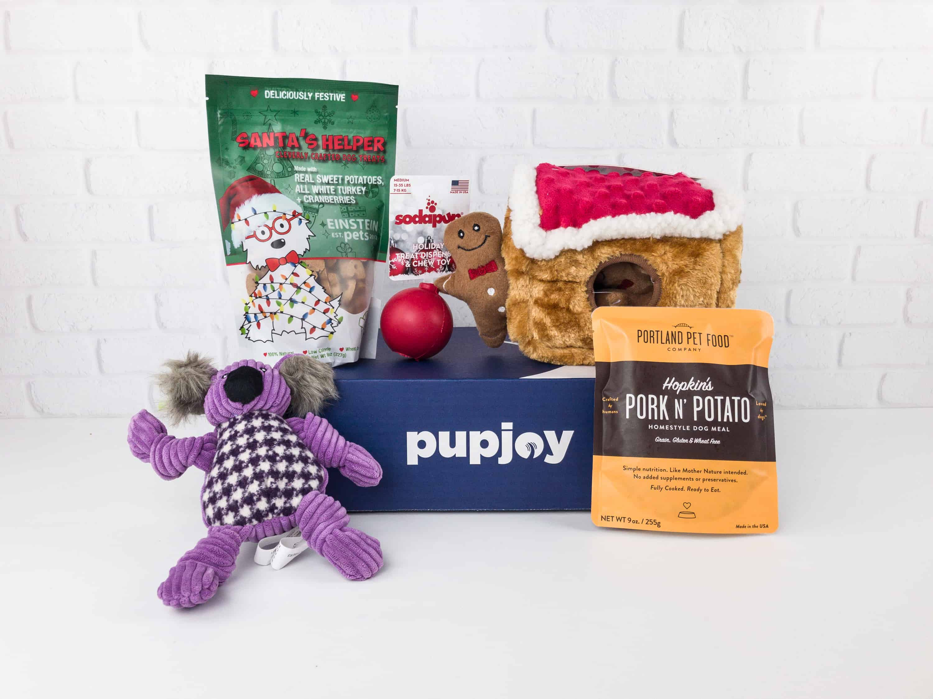 PupJoy December 2017 Subscription Box Review + Coupon