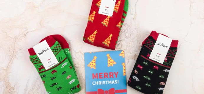 Say It With A Sock December 2017 Women's Sockscription Box Review & Coupon