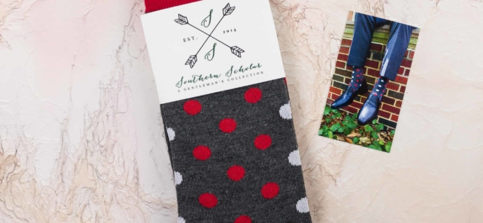 Southern Scholar Men's Sock Subscription Box Review & Coupon – December 2017