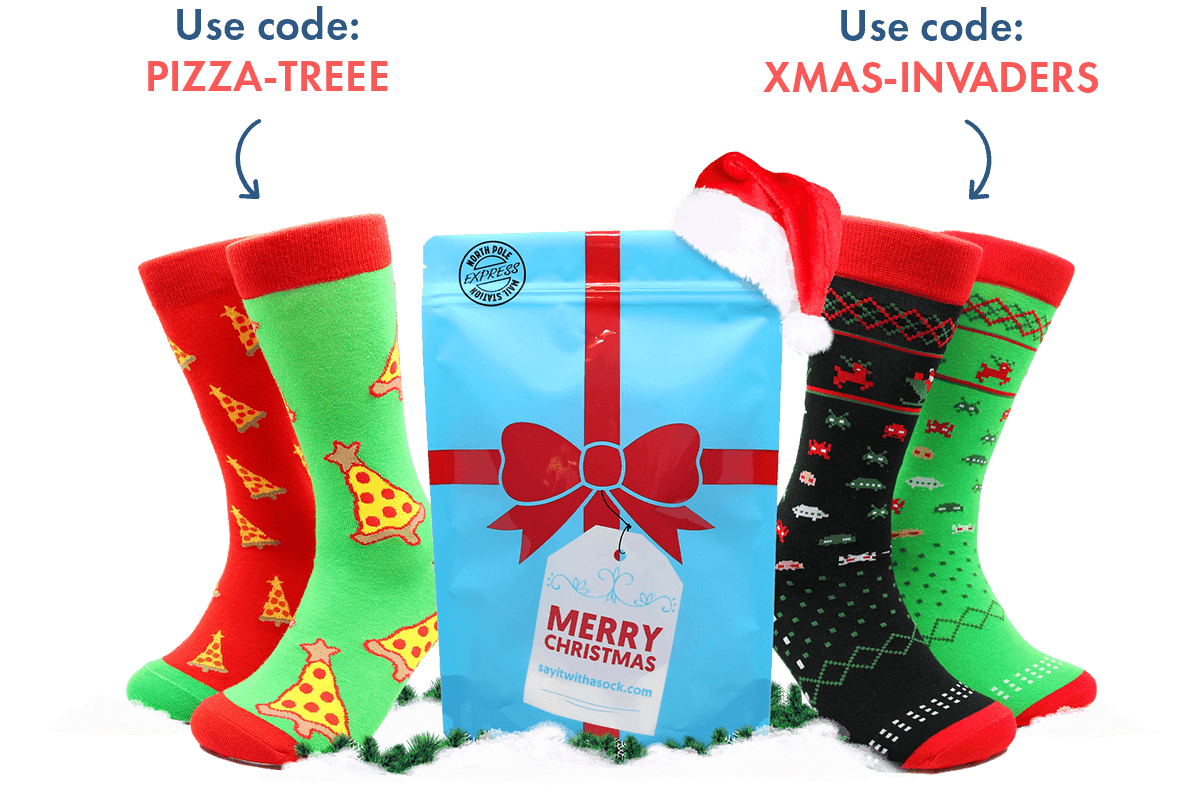 Say It With A Sock Holiday Deal: Get Free Christmas Socks!