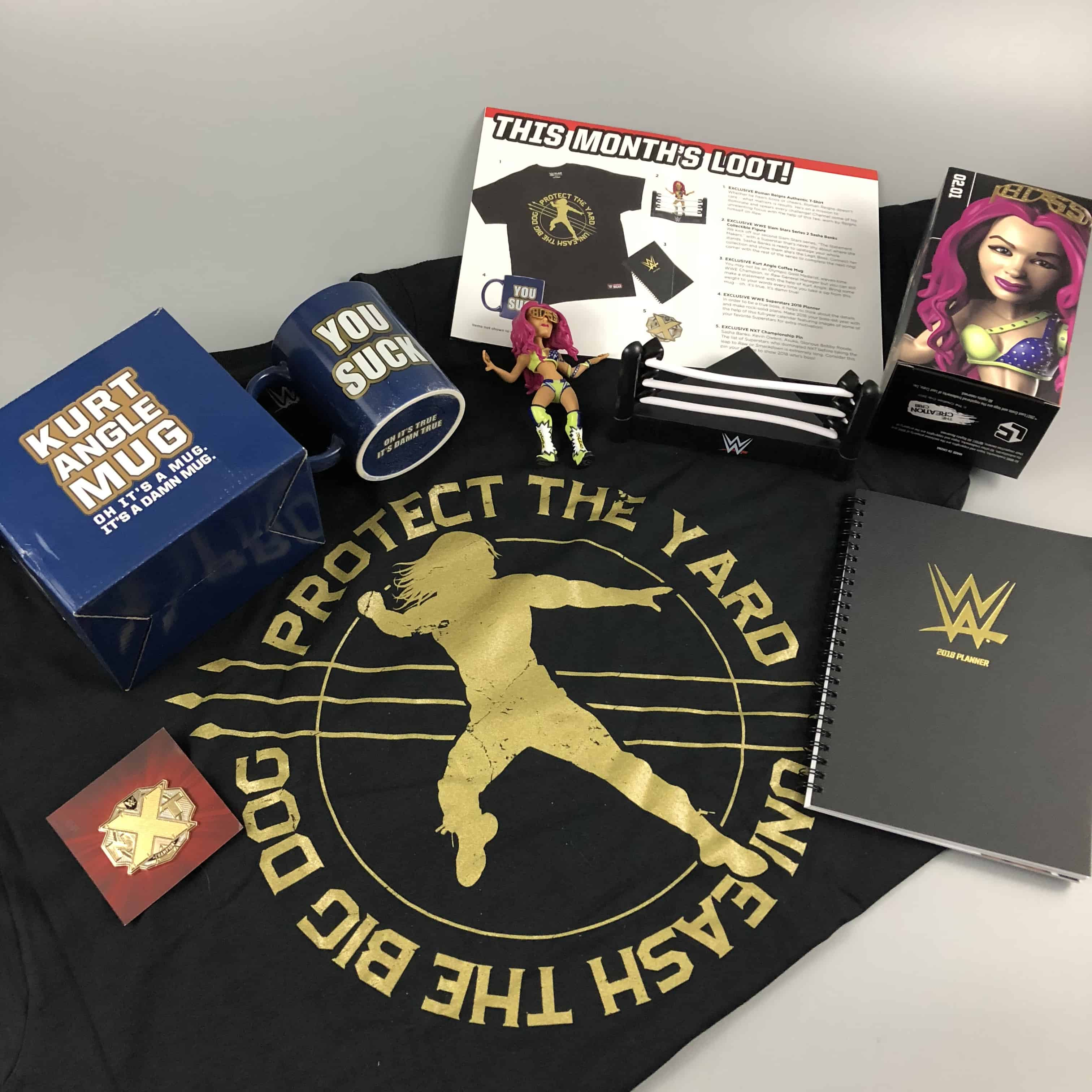 WWE Slam Crate December 2017/January 2018 Subscription Box Review + Coupons