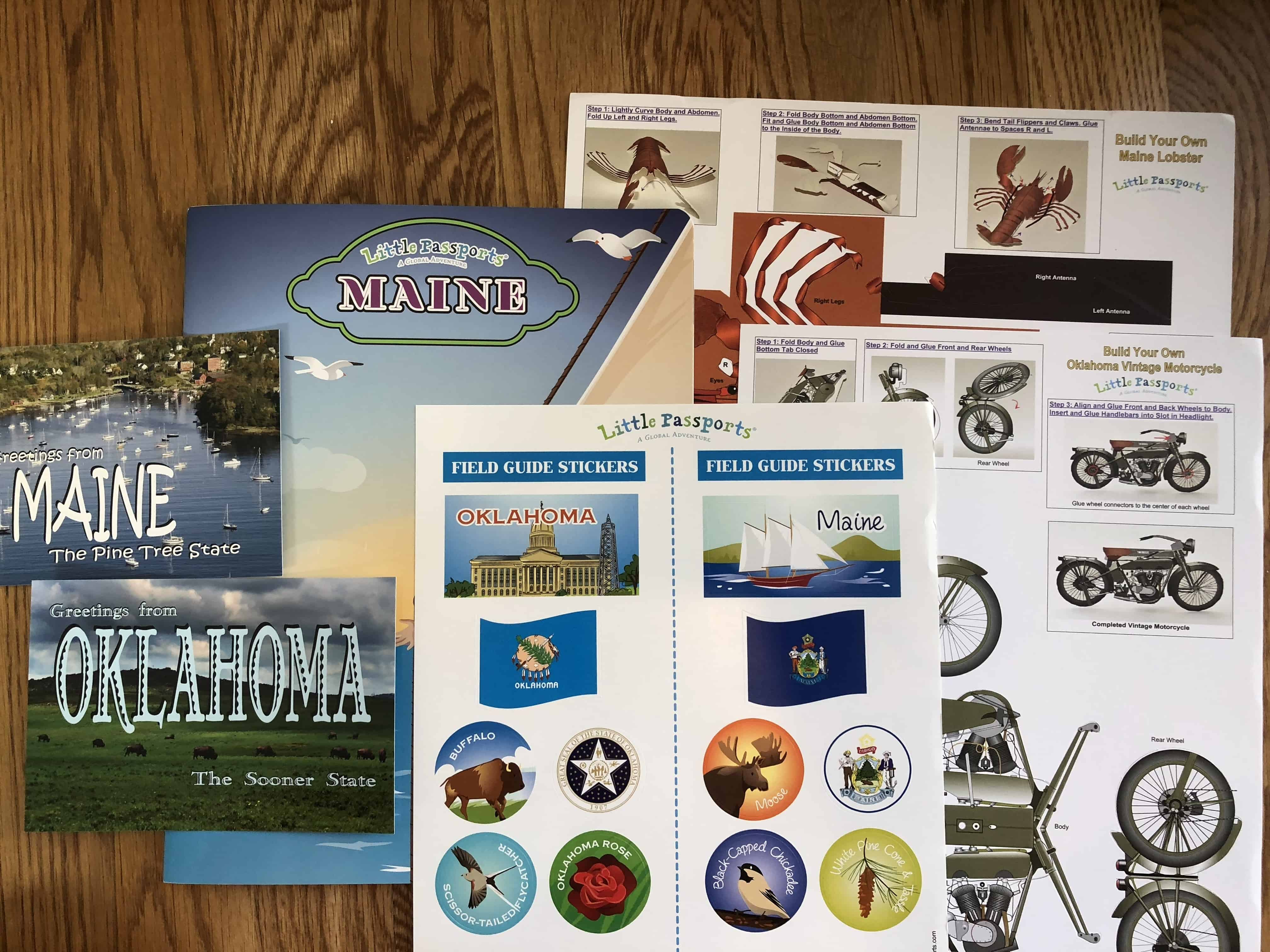 February 2018 Little Passports USA Subscription Box Review + Coupon – Maine and Oklahoma