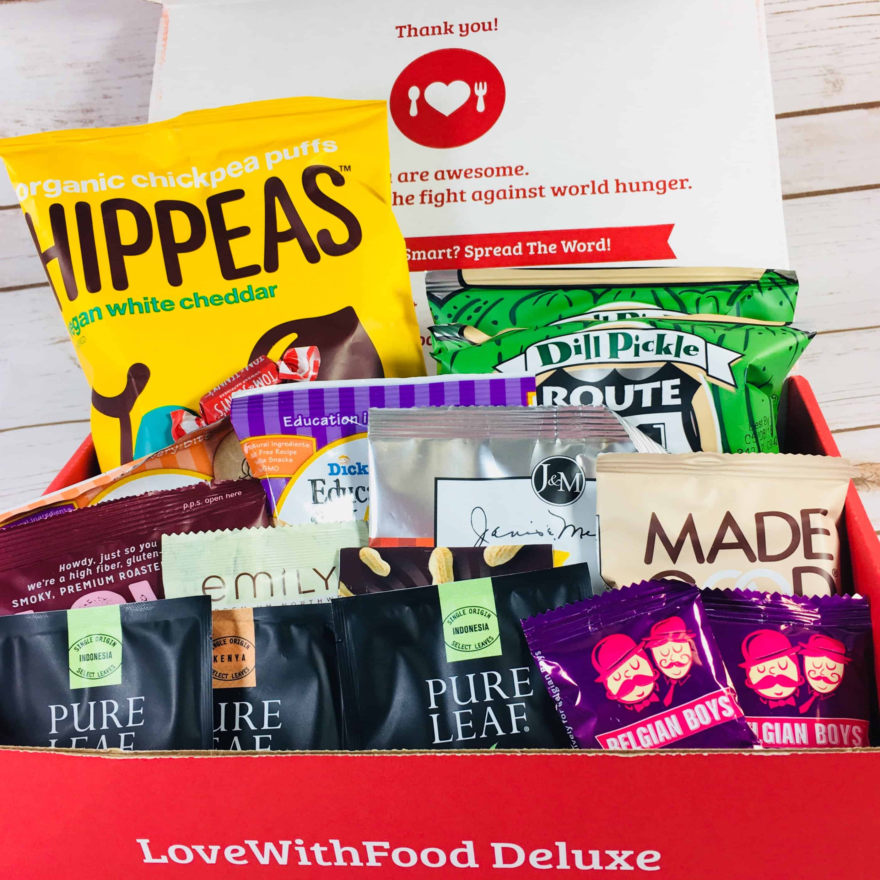Love With Food Deluxe Box January 2018 Subscription Box Review + Coupon