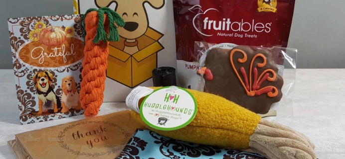 Wigglebutt Box Dog Subscription Box Review – November 2017