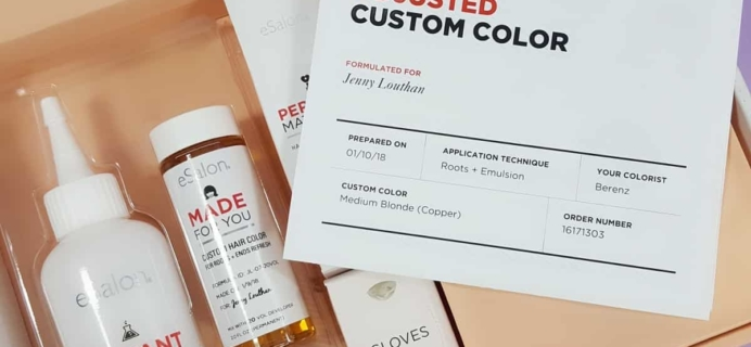 January 2018 eSalon Custom Hair Color Subscription Review + Coupon