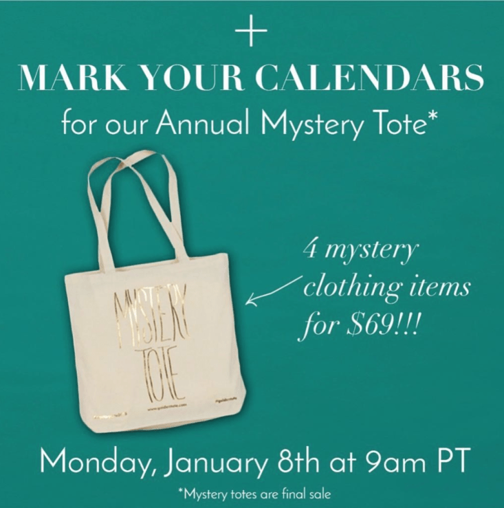 Golden Tote Annual Mystery Tote Starts Noon ET!