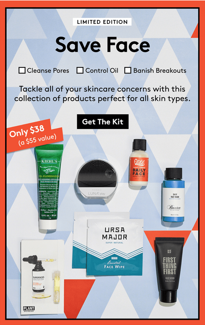 New Birchbox Man The Face the Day Kit + Coupons!