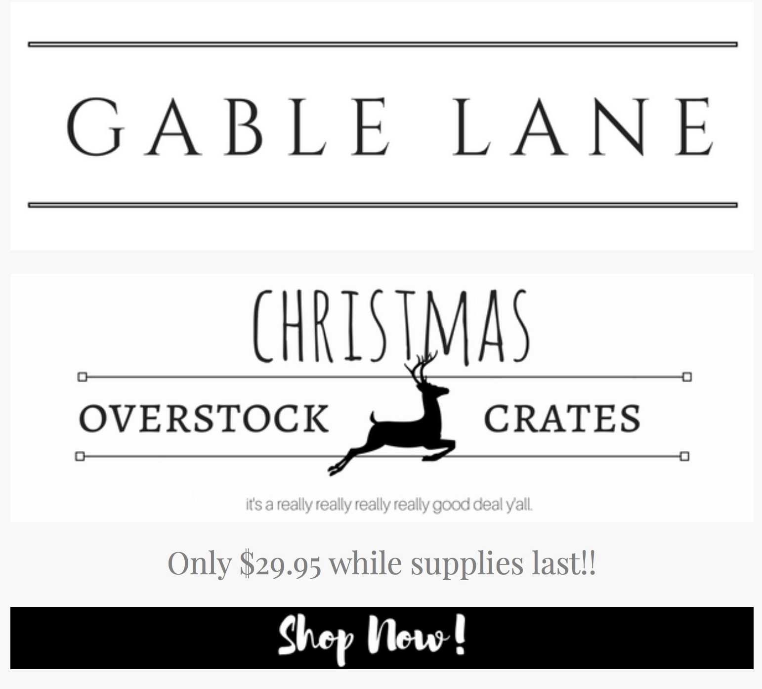 Gable Lane Crates Overstock Christmas Mystery Crate Available Now + Coupon!