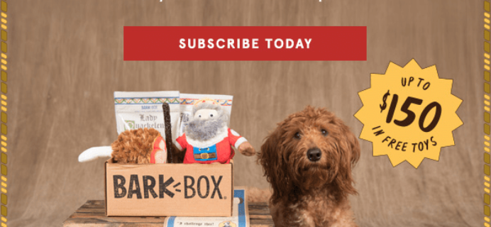 BarkBox Coupon: FREE Bonus Toy Every Month!