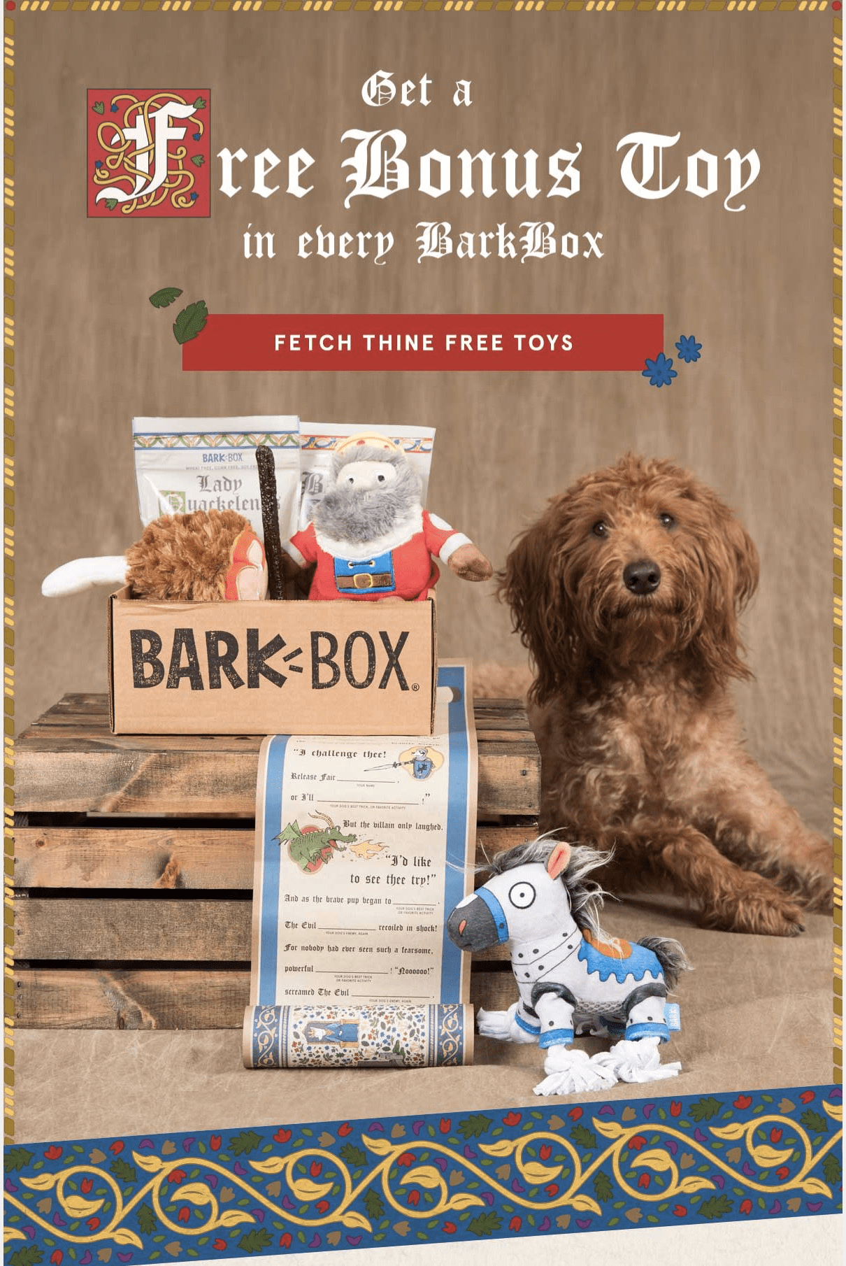 BarkBox Coupon: FREE Bonus Toy Every Month! LAST DAY!