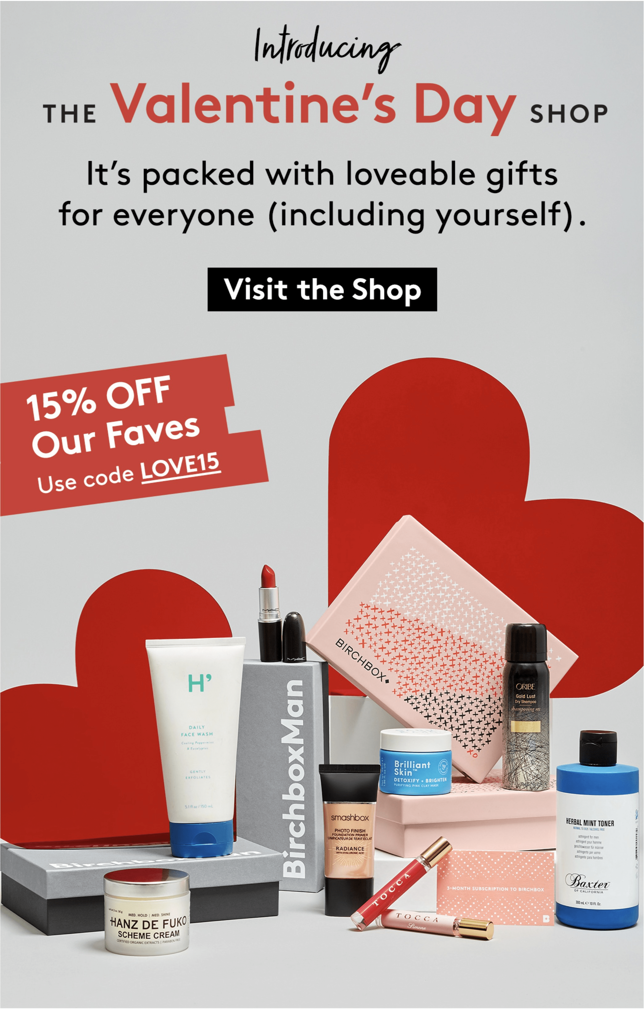 Birchbox Coupons: 15% Off Valentine's Day Shop!