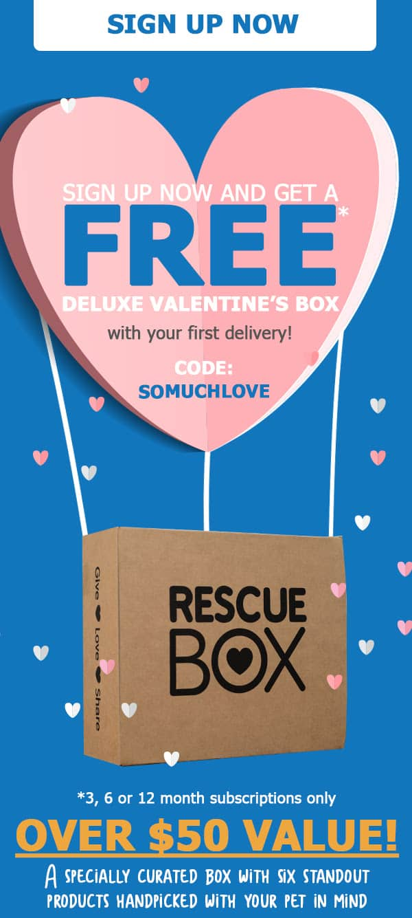 Rescue Box Valentine's Day Sale: Get A FREE Deluxe Valentine's Box With Subscription!