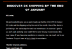 January 2018 Loot Crate DX Shipping Update