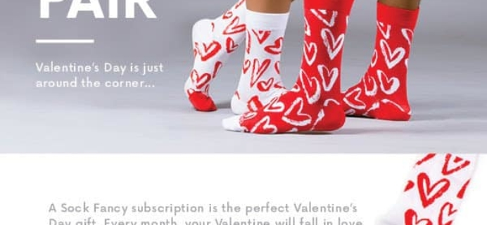 Sock Fancy Valentine's Day Coupon: Get A Free Pair Of Valentine's Day Socks With Any New Subscription!