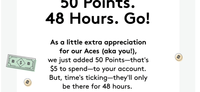 Birchbox Deal – $5 in FREE Loyalty Points For Aces!