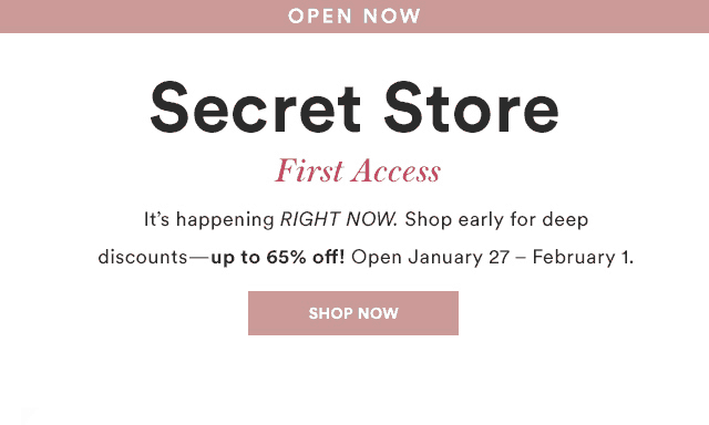 Julep February 2018 Secret Store Open!