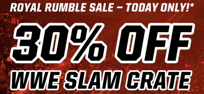 WWE Slam Crate Loot Gaming 1 Day Flash Sale: 30% Off Coupon!