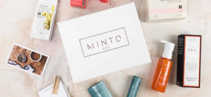 MINTD Box January 2018 Subscription Box Review + Coupon!